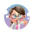 Cute Vector 3D Girl Character Design AKA Samantha PinkTie - Shape 1