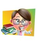 Cute Vector 3D Girl Character Design AKA Samantha PinkTie - Shape 3