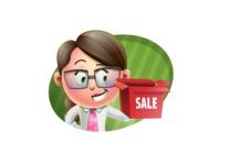 Cute Vector 3D Girl Character Design AKA Samantha PinkTie - Shape 4
