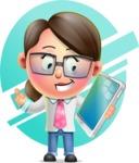 Cute Vector 3D Girl Character Design AKA Samantha PinkTie - Shape 6