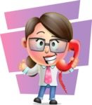 Cute Vector 3D Girl Character Design AKA Samantha PinkTie - Shape 7