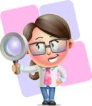 Cute Vector 3D Girl Character Design AKA Samantha PinkTie - Shape 12