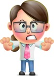 Cute Vector 3D Girl Character Design AKA Samantha PinkTie - Stop