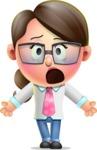 Cute Vector 3D Girl Character Design AKA Samantha PinkTie - Stunned
