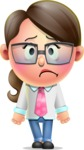 Cute Vector 3D Girl Character Design AKA Samantha PinkTie - Sad