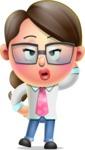 Cute Vector 3D Girl Character Design AKA Samantha PinkTie - Duckface