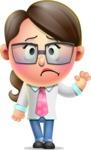 Cute Vector 3D Girl Character Design AKA Samantha PinkTie - Goodbye