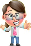 Cute Vector 3D Girl Character Design AKA Samantha PinkTie - Hello