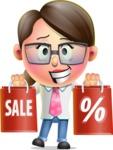 Cute Vector 3D Girl Character Design AKA Samantha PinkTie - Sale 2