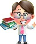 Cute Vector 3D Girl Character Design AKA Samantha PinkTie - Book 2