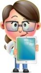 Cute Vector 3D Girl Character Design AKA Samantha PinkTie - iPad 1