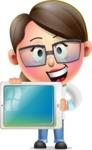 Cute Vector 3D Girl Character Design AKA Samantha PinkTie - iPad 2