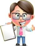 Cute Vector 3D Girl Character Design AKA Samantha PinkTie - Notepad 1