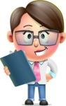 Cute Vector 3D Girl Character Design AKA Samantha PinkTie - Notepad 2