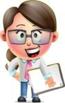 Cute Vector 3D Girl Character Design AKA Samantha PinkTie - Notepad 4