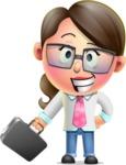 Cute Vector 3D Girl Character Design AKA Samantha PinkTie - Briefcase 1