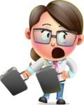 Cute Vector 3D Girl Character Design AKA Samantha PinkTie - Briefcase 3