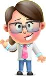 Cute Vector 3D Girl Character Design AKA Samantha PinkTie - Show
