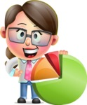 Cute Vector 3D Girl Character Design AKA Samantha PinkTie - Chart