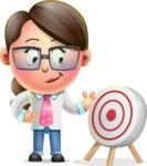 Cute Vector 3D Girl Character Design AKA Samantha PinkTie - Target