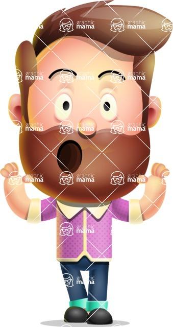 Vector 3D Cartoon Character АКА Ryan McConcept - Feeling Shocked