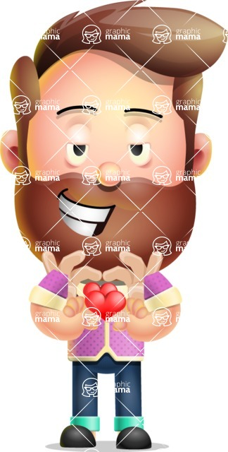 Vector 3D Cartoon Character АКА Ryan McConcept - Showing Love