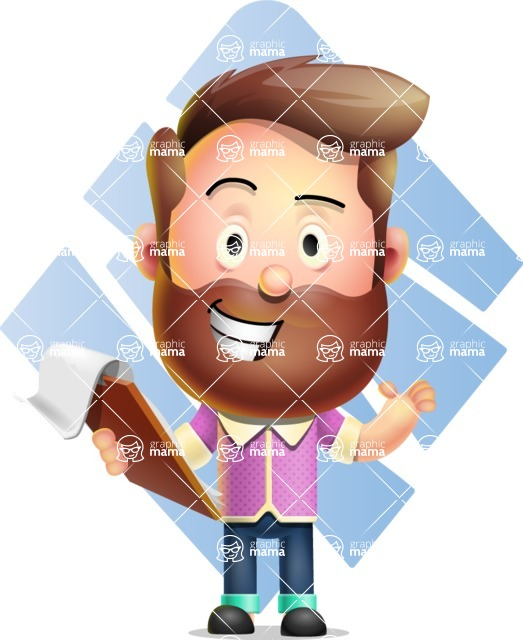 Vector 3D Cartoon Character АКА Ryan McConcept - With Romb Background