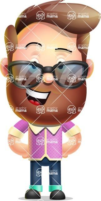 Vector 3D Cartoon Character АКА Ryan McConcept - With Sunglasses