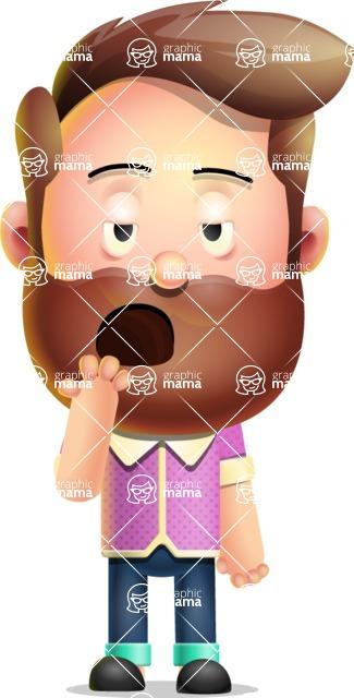 Vector 3D Cartoon Character АКА Ryan McConcept - Yawning