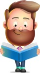 Vector 3D Cartoon Character АКА Ryan McConcept - Reading a Book