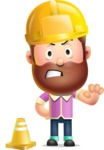 Vector 3D Cartoon Character АКА Ryan McConcept - Dressed as a Construction Worker
