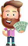 Vector 3D Cartoon Character АКА Ryan McConcept - Holding Money