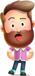Vector 3D Cartoon Character АКА Ryan McConcept - Making Funny Face