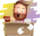 Vector 3D Cartoon Character АКА Ryan McConcept - On a Desk with Background
