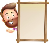 Vector 3D Cartoon Character АКА Ryan McConcept - Pointing on a Whiteboard