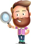 Vector 3D Cartoon Character АКА Ryan McConcept - Searching with Magnifying Glass