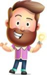 Vector 3D Cartoon Character АКА Ryan McConcept - With an Idea