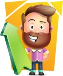 Vector 3D Cartoon Character АКА Ryan McConcept - With Bright Background