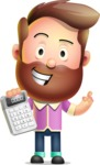 Vector 3D Cartoon Character АКА Ryan McConcept - With Calculator