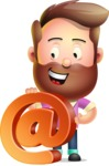 Vector 3D Cartoon Character АКА Ryan McConcept - With Email Sign