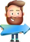 Vector 3D Cartoon Character АКА Ryan McConcept - With Forward Arrow
