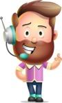 Vector 3D Cartoon Character АКА Ryan McConcept - With Headphones