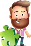 Vector 3D Cartoon Character АКА Ryan McConcept - With Puzzle