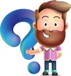 Vector 3D Cartoon Character АКА Ryan McConcept - With Question Mark