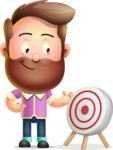 Vector 3D Cartoon Character АКА Ryan McConcept - With Target