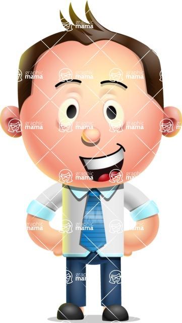 Vector 3D Businessman Character Design - Normal