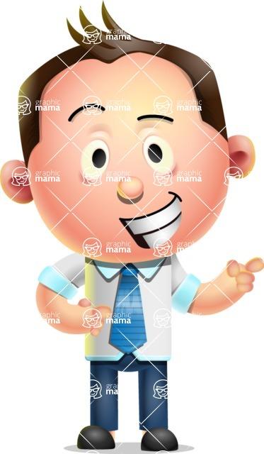 Vector 3D Businessman Character Design AKA Samuel Brightman - Point 2