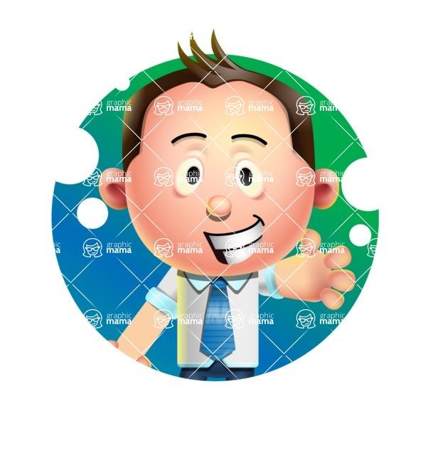 Vector 3D Businessman Character Design AKA Samuel Brightman - Shape 1