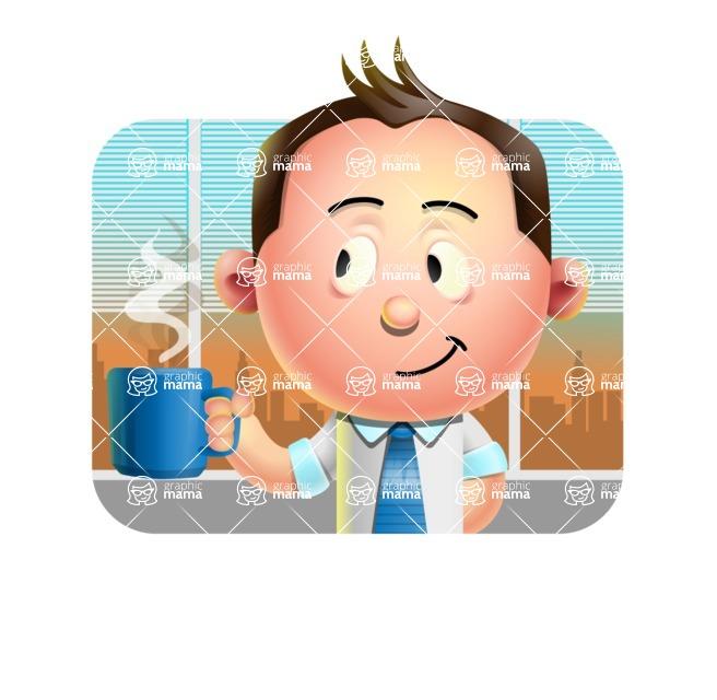 Vector 3D Businessman Character Design AKA Samuel Brightman - Shape 2