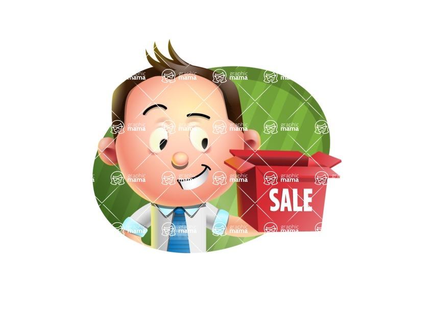 Vector 3D Businessman Character Design AKA Samuel Brightman - Shape 4
